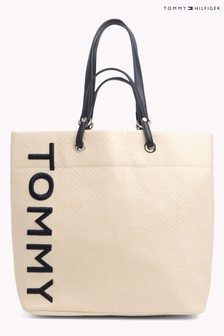 Tommy Hilfiger Raffia Summer Tote Bag