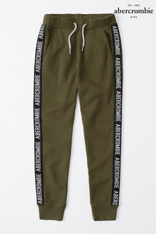 Abercrombie & Fitch Olive Tape Joggers