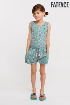 FatFace Green Lucie Camel Jersey Playsuit