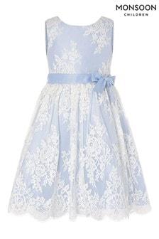 Monsoon Blue Lace Midi Dress