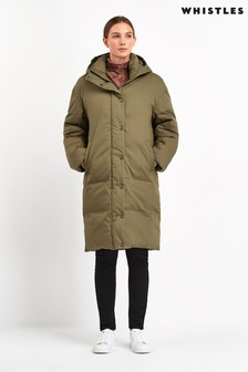 Whistles Olive Casual Padded Jacket