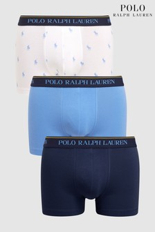 Polo Ralph Lauren Navy/Blue/Pony Print Trunk Three Pack