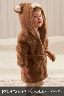 Personalised Brown Bear Robe