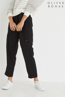 Oliver Bonas Black March Utility Trousers