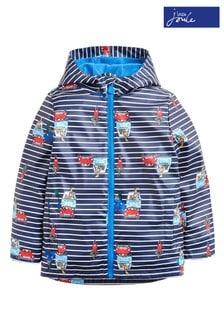 Joules Skipper Gummierter Tier-Regenmantel mit Streifen für Jungen, blau