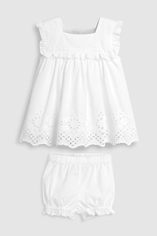 Broderie Bloomer Set (0mths-2yrs)