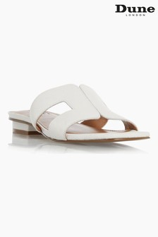 Dune London White Loupe Smart Slider Sandals