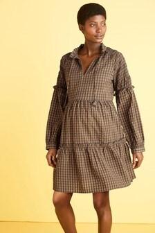 Maternity Shirred Sleeve Dress