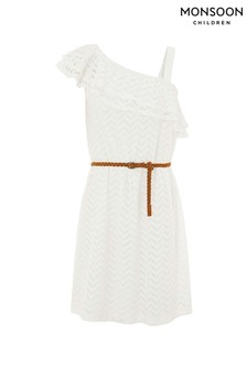 Monsoon White Lora Lace Dress