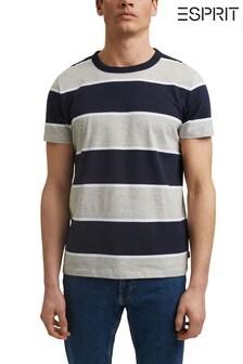 Esprit Blue Striped T-Shirt In Organic Cotton
