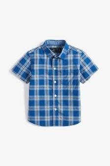 Рубашка в клетку с короткими рукавами (3 мес.-7 лет)