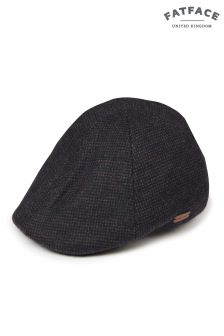 FatFace Navy Tweed Duckbill Hat