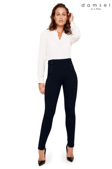 Damsel In A Dress Blue Cammie Ponte Trouser