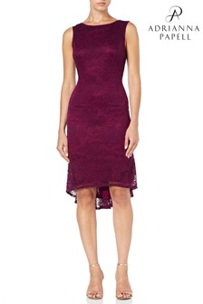 Adrianna Papell Red Rosa Lace Trumpet Dress