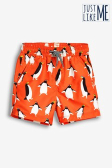 Penguin Print Swim Shorts (3mths-16yrs)