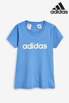 adidas Blue Essential Linear T-Shirt