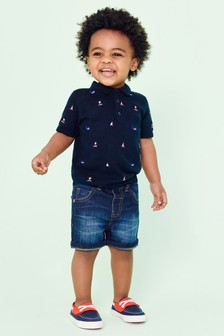 Embroidered Knitted Polo (3mths-7yrs)