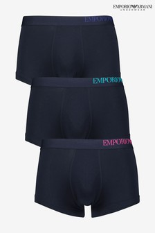 Emporio Armani Side Logo Trunks Three Pack