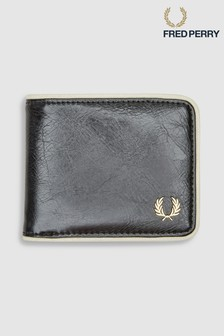 Fred Perry Black Billfold Wallet