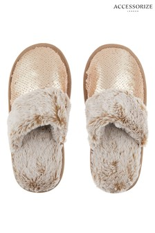 Accessorize Reversible Sequin Slipper