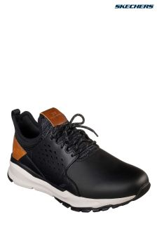 Skechers® Black Relven Hemson Detail Trainer