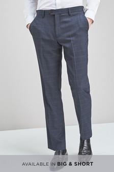 Check Wool Mix Regular Fit Trousers