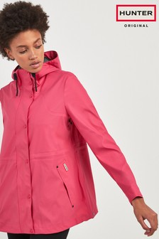 Hunter Womens Pink Lightweight Rubberised Jacket