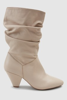 Signature Cone Heel Slouch Boots