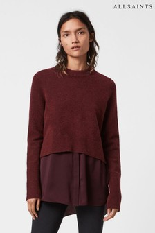 AllSaints Shiraz Double Layer Knit Jumper