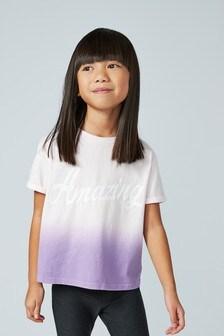 Dip Dye Slogan T-Shirt (3-16yrs)