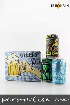 Personalised Cheers Dad Craft Beer Tin Gift by Le Bon Vin