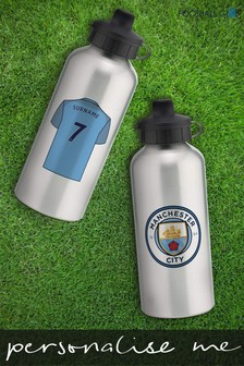 Personalised Manchester City Water Bottle by Personalised Football Gifts