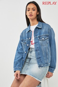 Replay® Mid Wash Denim Jacket