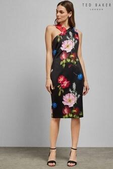 Ted Baker Black Sundae Asymmetric Dress