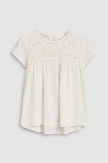 Short Sleeve Embroidered Blouse (3-16yrs)