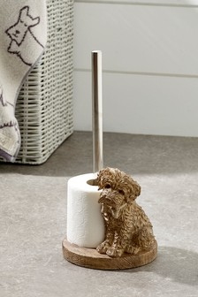 Charlie The Cockapoo Toilet Roll Holder