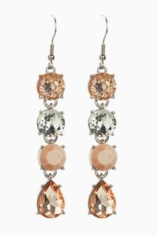 Pink Stone Effect Drop Earrings