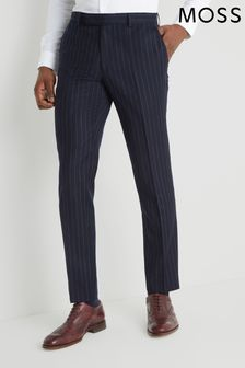 Moss London Skinny Fit Blue Stripe Trouser
