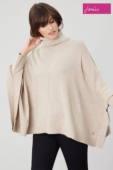 Joules Rochelle Poncho With Roll Neck