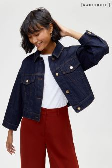 Warehouse Cropped Denim Jacket