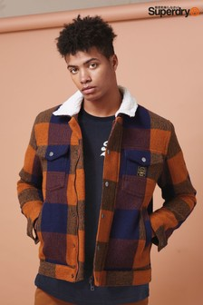Superdry Orange Check Jacket