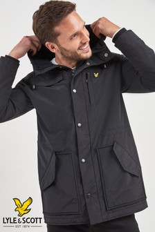 Lyle & Scott Black Fleece Lined Parka