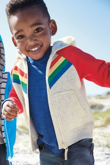 Stripe Zip Through Hoody (3mths-7yrs)