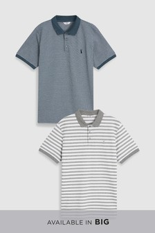 Textured Polos Two Pack