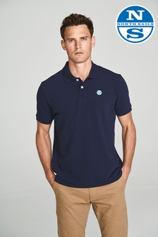 North Sails Navy Short Sleeve Logo Polo
