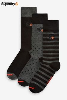 Superdry Black Three Socks