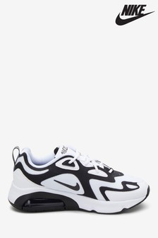 Nike White/Black Air Max 200 Trainers