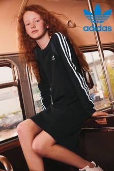 Robe adidas Originals noire à 3 bandes
