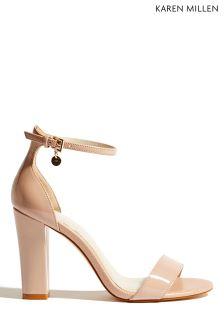 Karen Millen Nude Epp Range 2 Part Sandal