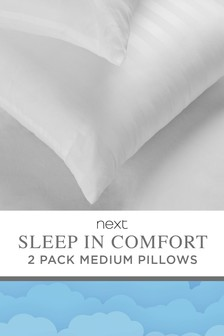 Set of 2 Sleep In Comfort Medium Pillows